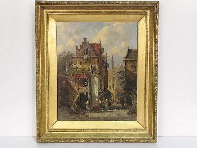 attributed PIETER GERARDUS VERTIN DUTCH OIL PAINTING