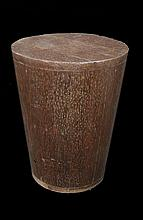 African Wood Drum Pedestal