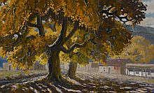 Ben Turner (1912-1966) Fall Cottonwood oil on