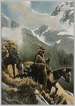 Roy Kerswill (1925-2002) Mountain Man watercolor