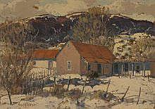 Carl von Hassler (1886-1969) Winter in Sandia