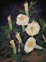 Cyrus Baldridge (1889-1977) Datura oil on canvas