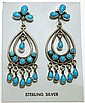 Navajo Turquoise Sterling Silver Post Earrings - Eleanor Largo