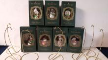 7 Waterford Holiday Heirlooms Santa Ornaments