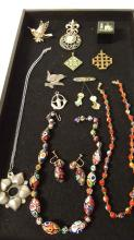 Lot of vintage costume jewelry items