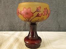 AFTER GALLE FRENCH SIGNED CAMEO GLASS 5.25