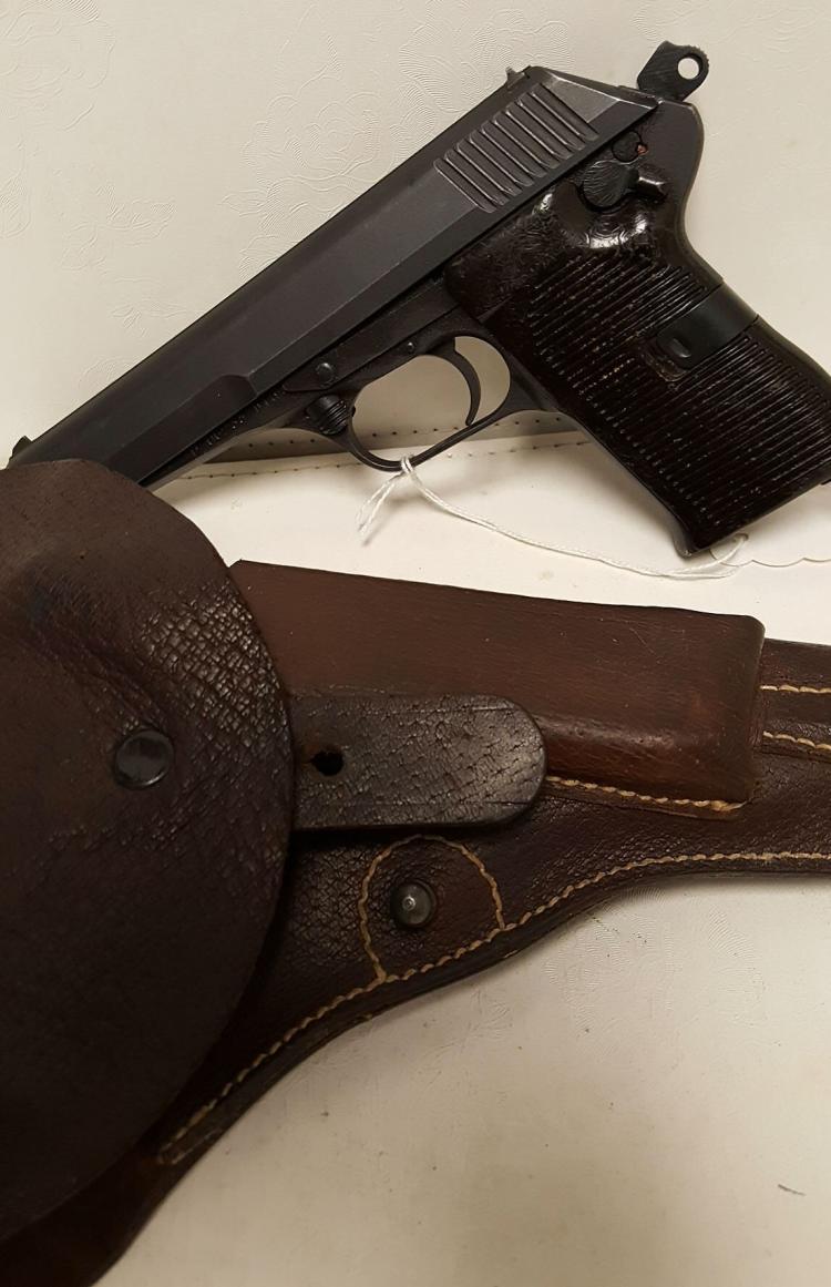 Czech CZ-52 Tokarev 7.62x25 pistol, holster