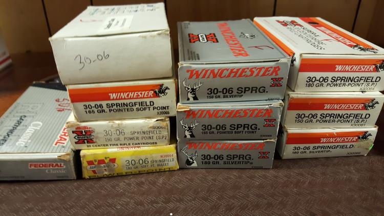 11 boxes 30-06 Springfield ammo