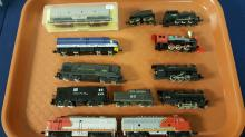 9 N scale used Locomotives & switchers