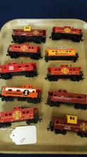 Lot of 10 HO scale train Cabooses
