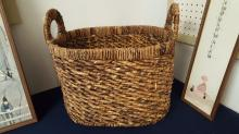 Seagrass double handled basket