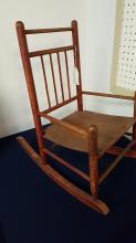 Plank seat child's rocking chair