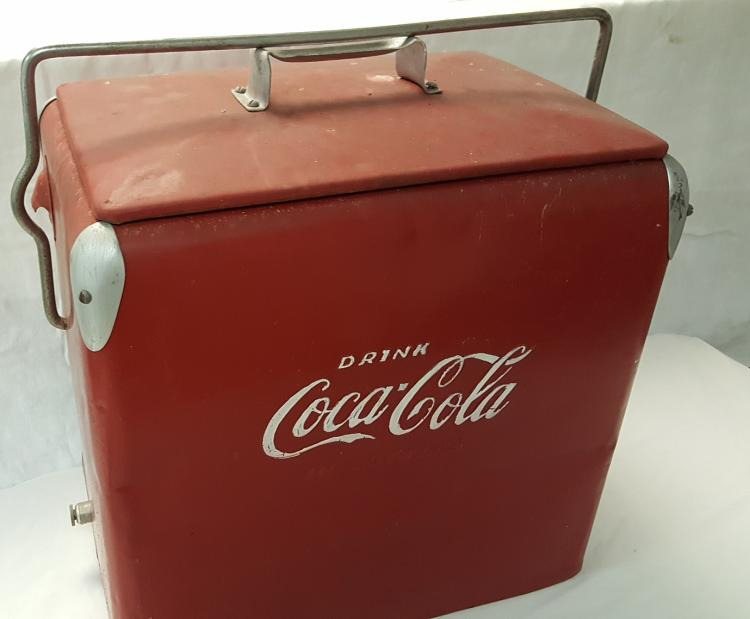 Drink Coca-Cola in bottles metal cooler by Action