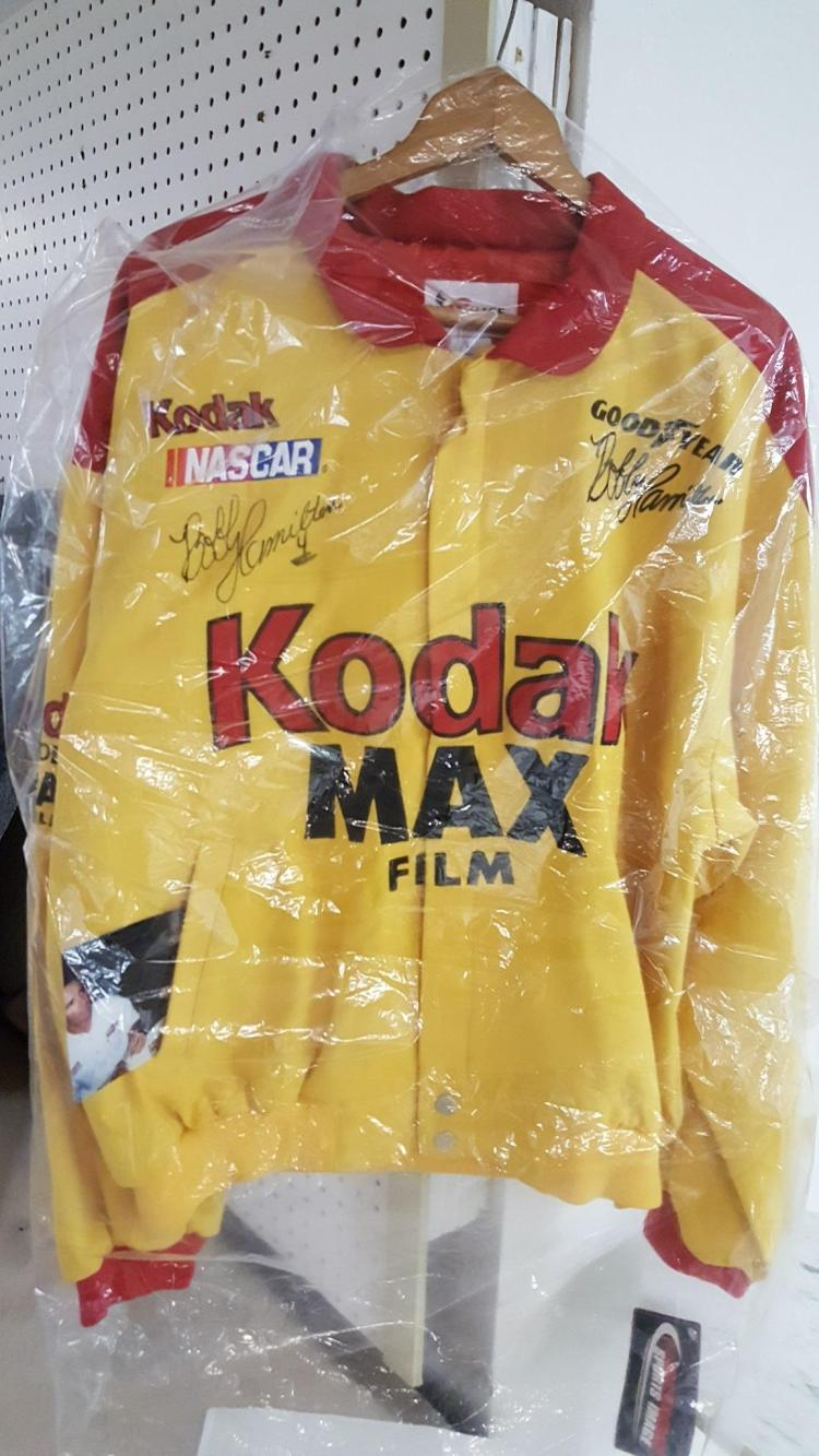 Signed Bobby Hamilton #4 Kodak jacket NASCAR
