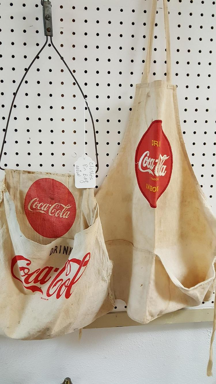 Coca-Cola soda jerk apron & clothes pin bag