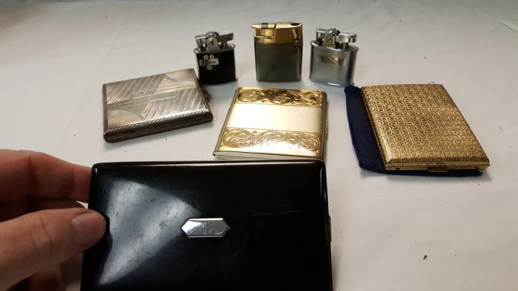 3 Ronson LIGHTERS & 4 cigarette cases