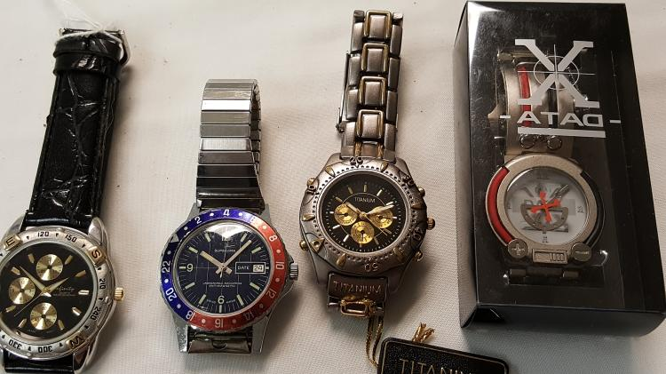 Lot of 4 modern men's wrist watches