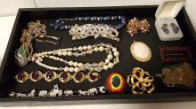 Vintage lot of unsigned costume jewelry