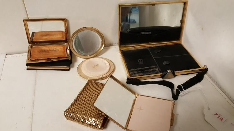 4 vintage compacts & cases