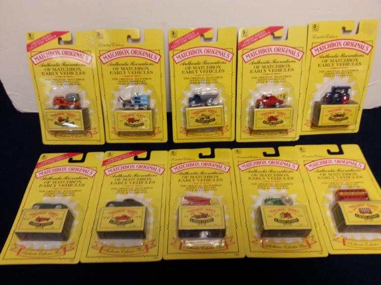 10 Matchbox Originals early vehicles New in packs