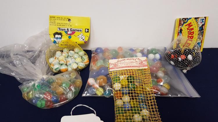 5 bags of vintage marbles