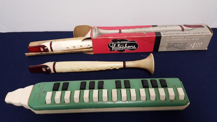 2 flutophones & 1 Horner Melodica