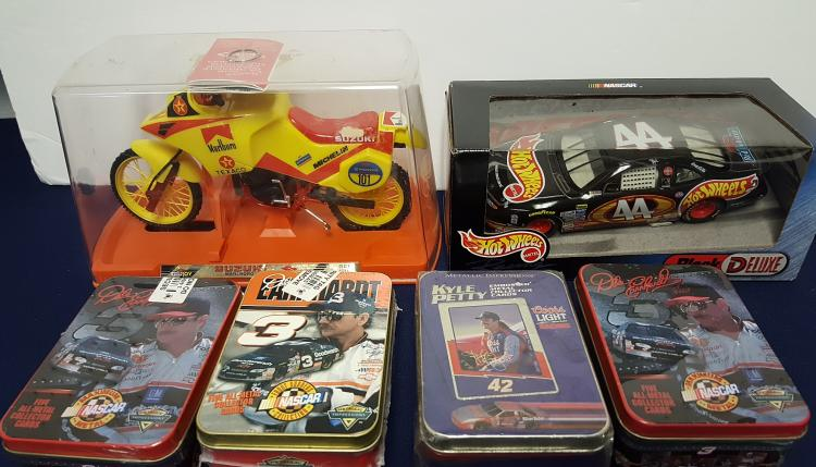 Marlboro bike, Nascar cards & Hot Whhels