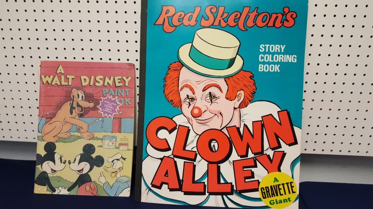1970s Red Skelton's & Walt Disney coloring books