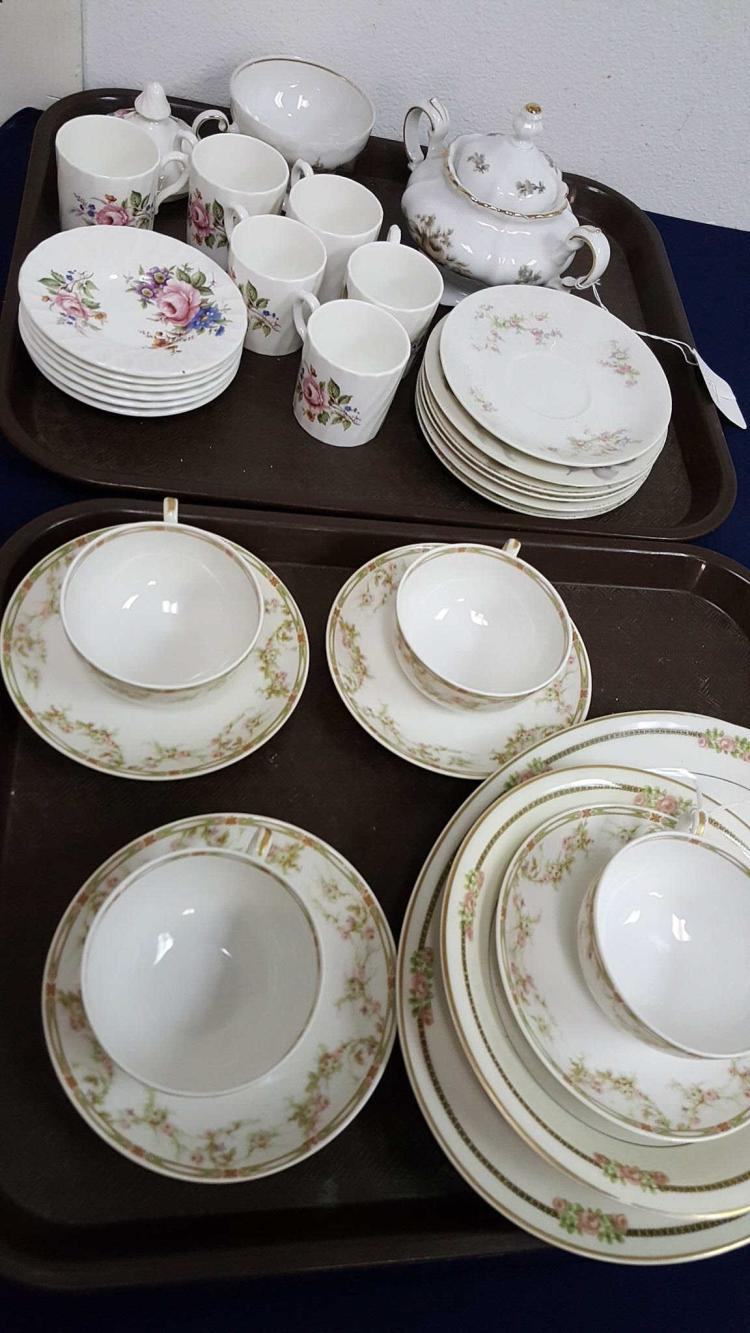 2 lots French Limoges, Bavarian & English china