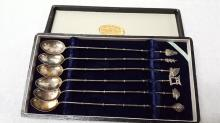 Japanese sterling silver boxed iced tea spoon set