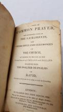 Book of common prayers London 1809