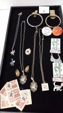 Square Dance pins, jewelry, stamps & buttons