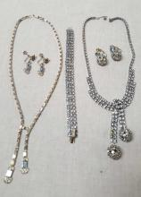 2 vintage costume jewelry necklace sets