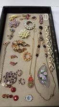 Lot of unsigned costume jewelry items