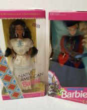 1991 English & 1992 Native American Barbie