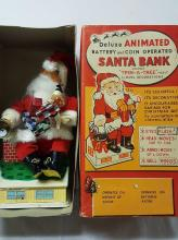 Trim-A-Tree animated Battery & CoinSanta Bank