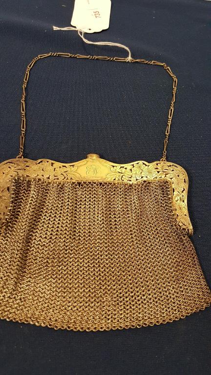 Vintage german silver mesh ladies evening bag for German designer brands