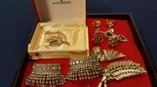 Costume jewelry lot, some signed