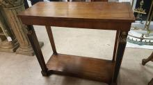 French style wood entry table