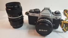 Nixon FE2 35 mm camera with Xtra 55mm lens
