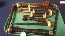 vintage Southerland bagpipe set