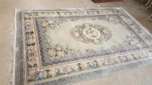 6' x 9' heavy pile Chinese wool rug