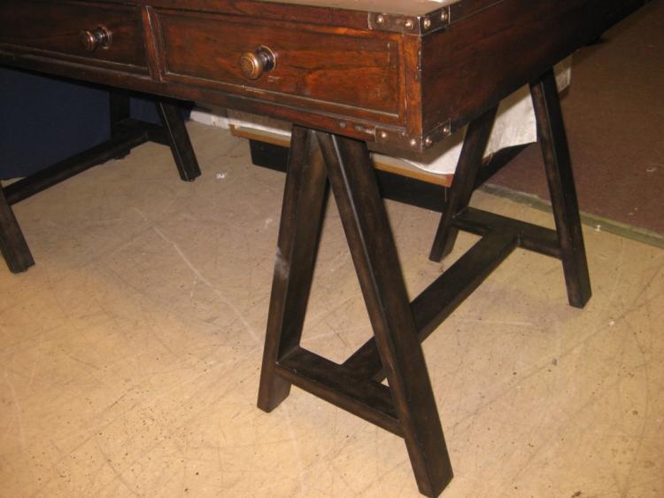 Stanley 3 drawer sawhorse leg executive desk Sawhorse desk legs