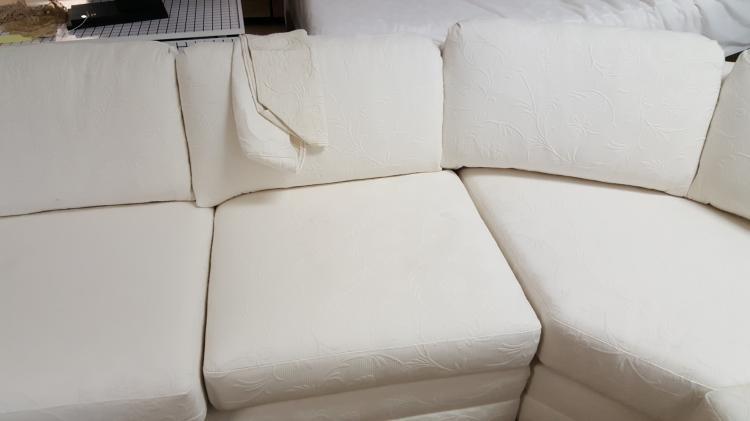 Surprising White Brocade 4 Piece Sectional Sofa Theyellowbook Wood Chair Design Ideas Theyellowbookinfo