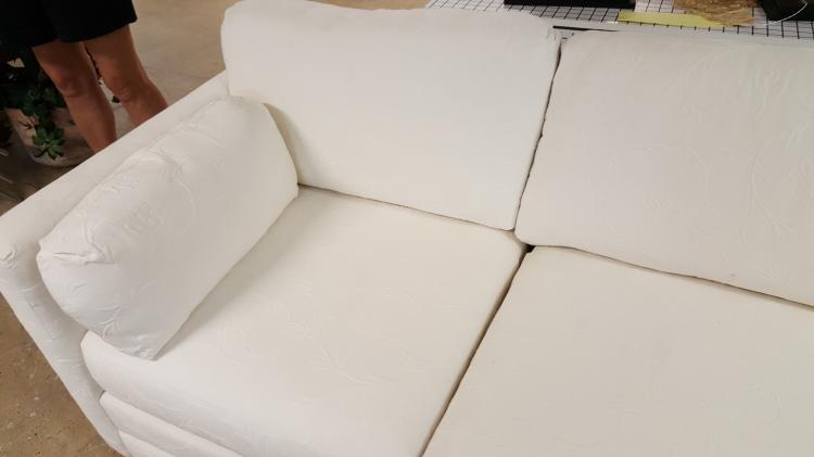 Admirable White Brocade 4 Piece Sectional Sofa Theyellowbook Wood Chair Design Ideas Theyellowbookinfo