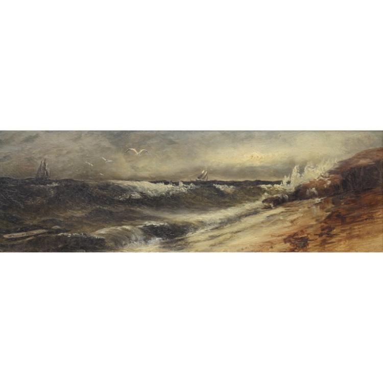 Willis Plummer  (born 1838/39)  Coastal Scene
