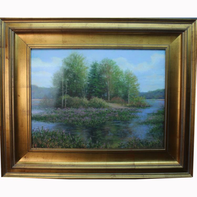 "R Collier Artist ""Island Pond&quot..."