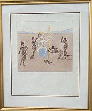 Dali etching