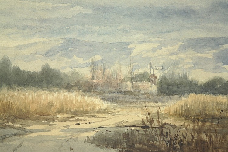19th Century Watercolor Landscape