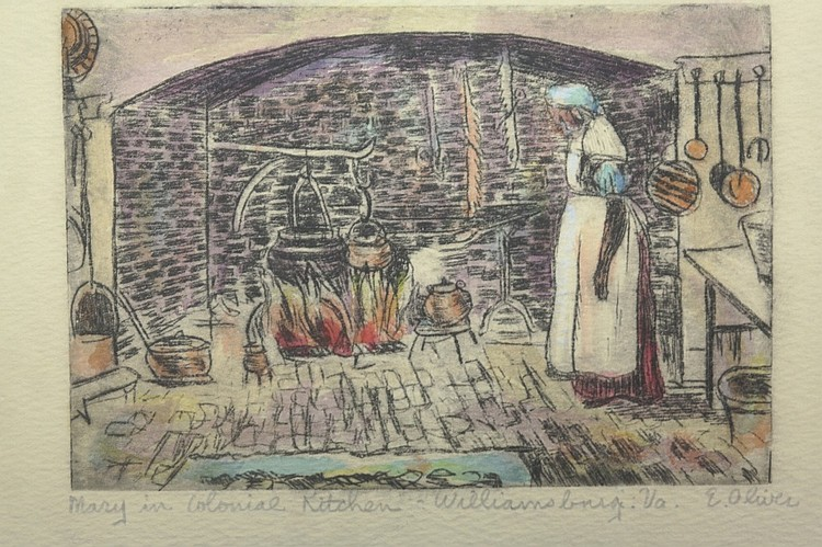 Etching by Edith Oliver ( 1889-1979)